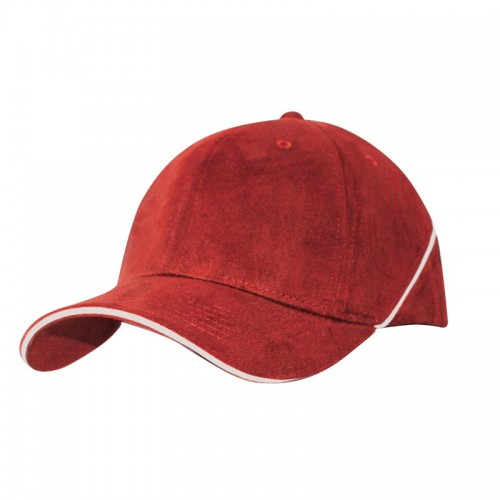Brushed Cotton Cap with White Piping & Sandwiched Piping