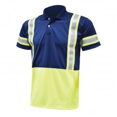 Custom Polo T-shirt with Safety Strip
