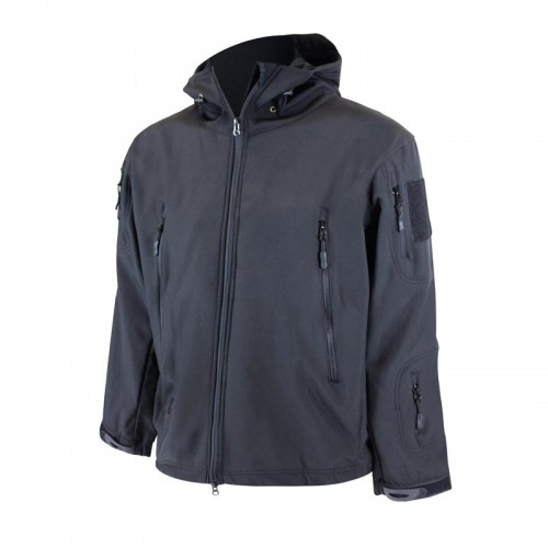 Control your comfort level during seasonal changes from inside this soft shell polyester jacket.
