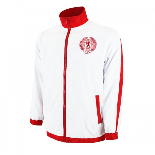 This full-zip track jacket can be worn over their jerseys until they're good and warmed up.