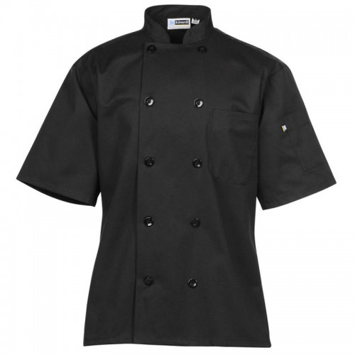 Button Short Sleeve Chef Coat