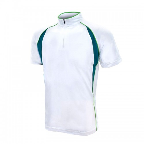 Side Block Quarter Zips Performance Polo