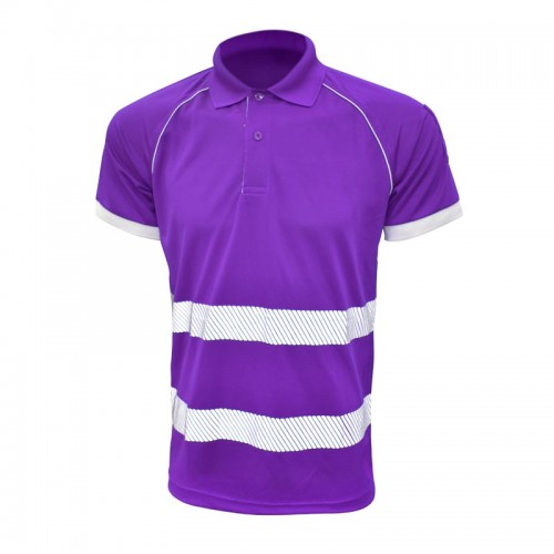 Stripe Performance Polo Tee