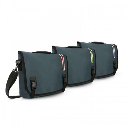 Coloured Zip Messenger Bag
