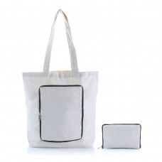 FOLDABLE ZIPPER TOTE BAG