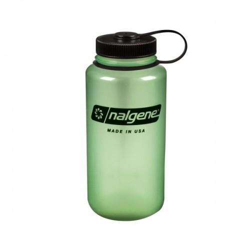 Nalgene 32oz Wide Mouth Bottle - Green Glow