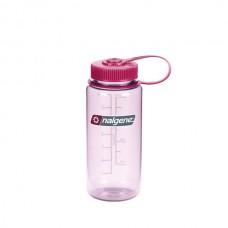 Nalgene 16oz Wide Mouth Bottle - Clear Pink