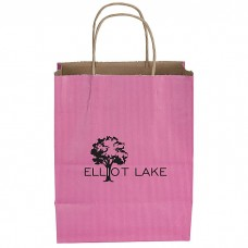 Customize Tonal Striped Matte Paper Bag