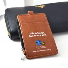 Customized PU Card Holder with Coin Compartment