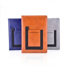 Multifunctional PU Leather Journal Notebooks With Phone Pocket