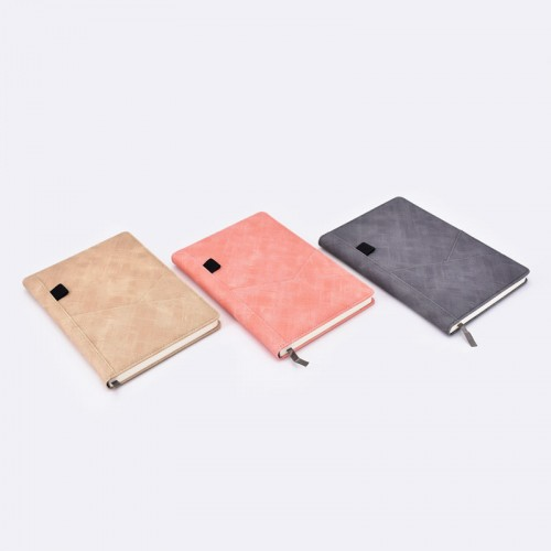 Personalized hard cover notebooks with card pocket in front cover