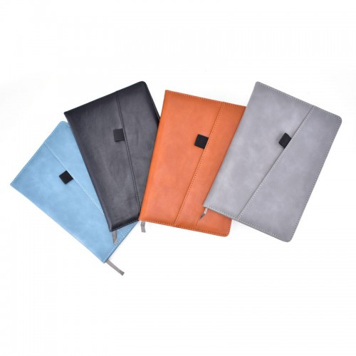 PU Leather Cover with outside Pocket Journal Notebook