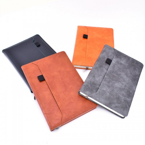 Smart Notebook PU Leather Hardcover with Pocket & Pen Holder