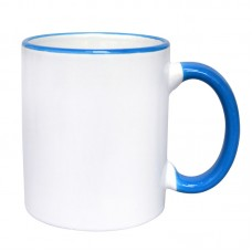 Border Ceramic Mug, Blue
