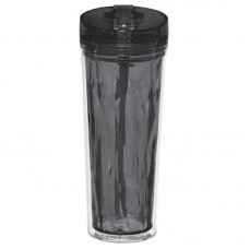 Hot & Cold Flip n Sip Geometric Tumbler 18 oz (black)