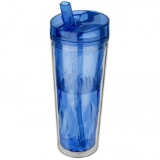 Hot & Cold Flip n Sip Geometric Tumbler 18 oz (blue)