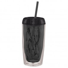 Geometric Tumbler 16oz (Black)