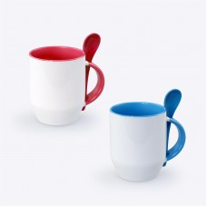 Zecore Sublimation Mug with Spoon (350ml)
