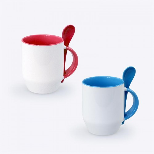 Zecore Sublimation Mug with Spoon (350ml)