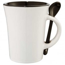 Dolce 10-oz. Ceramic Mug with spoon