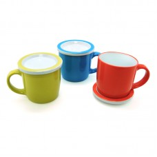 Ceramic Mug with Lid/Coaster