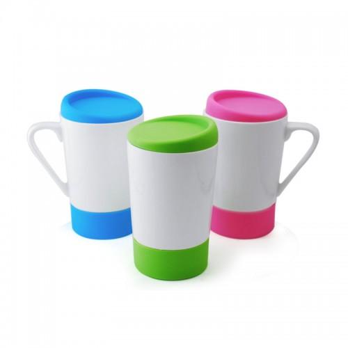 Newredis Ceramic Mug with Lid (450ml)