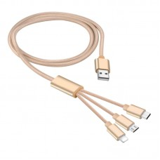 1.2M  One cable with 3 interface usb cable
