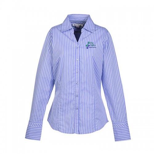 V-Neck Striped Shirt