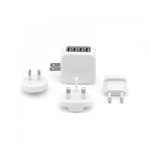 Zimtech Travel Adaptor With 4 USB Hub