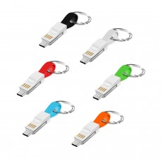 Micro USB Charging Cable 3 In 1 Keychain