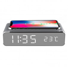 Digital Alarm Clock with Wireless Charger