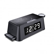 4IN1 Alarm clock wireless charger station