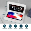 LED Alarm Clock with Wireless Charging