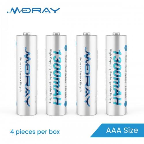 1300mAh AAA size Ni-MH Batteries