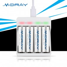 Ni-MH Battery AA size 4pcs with Fast Charger