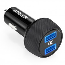 ANKER POWERDRIVE SPEED WITH 2 QUICK CHARGE 3.0 PORTS BLACK OFFLINE PACKAGING V3
