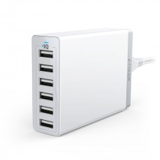 ANKER POWERPORT 6 60W 12A 6-PORT DESKTOP CHARGER SG PLUG (WHITE)