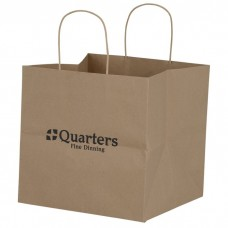 Customize Brown Kraft Wide Gusset Paper Bag