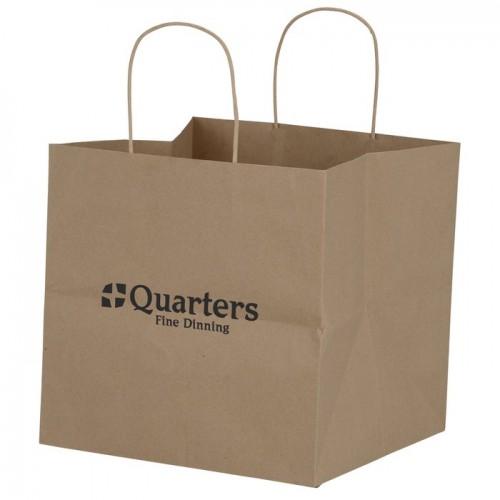 Customize Brown Kraft Wide Gusset Paper Bag