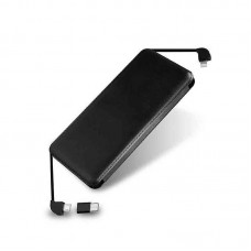 LED LIGHT LOGO 8000mAh Power Bank   Built In Cable