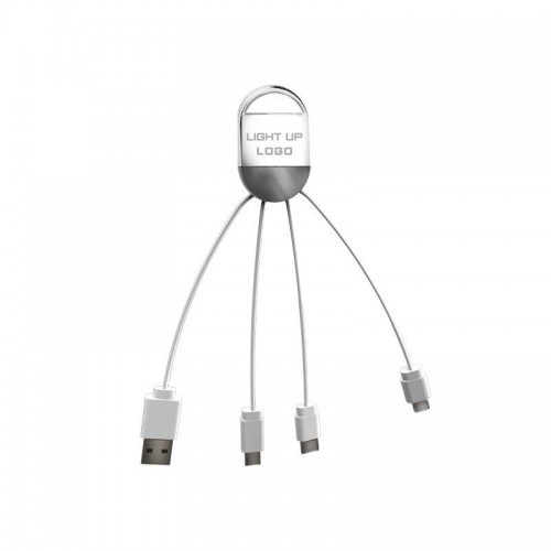 LED LIGHT UP LOGO 3 IN 1 FAST CHARGE CABLE