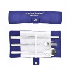 Customized Cutlery Set with Canvas Pouch