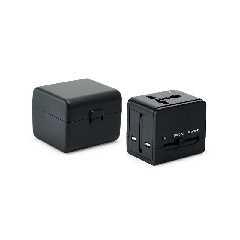 Worldwide Travel Adaptor With 2 Usb And Case