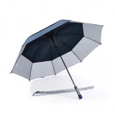Popular Double Tiered. Auto Open, UV Coated, Windproof Golf Umbrella (Navy Blue)-HKGG231FFW