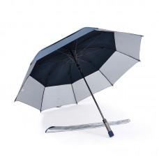 Popular Double Tiered. Auto Open, UV Coated, Windproof Golf Umbrella (Navy Blue)-HKGG231FFW
