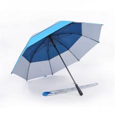 Popular Double Tiered. Auto Open, UV Coated, Windproof Golf Umbrella (Light Blue)-HKGG231FFW