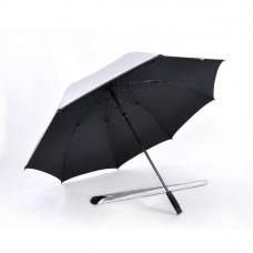 Popular Auto Open, UV Coated, Windproof Golf Umbrella (Black)-HKGG282SPW-BLK