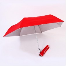 Auto open & close 3 fold umbrella (Red)