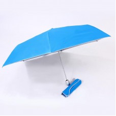 Auto open & close 3 fold umbrella (Light Blue)