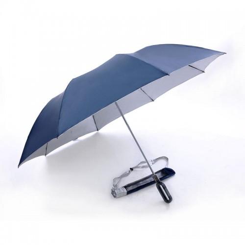 2 Fold, Windproof, Foldable Golf Umbrella (Navy Blue)-HKGFA26PSW-NB